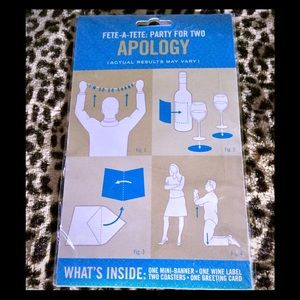 Two Knock Knock Apology Banner Sets